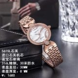 Orologio di lusso meccanico delle signore della cinghia di cuoio del diamante