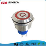 19mm Electronic Sealed Waterproof Reset Drukknop Switch voor Afstandsbediening