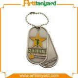 Abnehmer-Entwurfs-Firmenzeichen-Metallhundeplakette mit Halskette