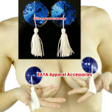 Nipple sexy Pasties in Blue With White Tassels (RNC-088)