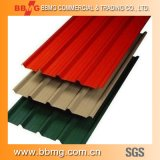 Dx51d Z30-Z60 0,15mm-2.0mm revestido de Color de techos de cartón ondulado Prepainted Fábrica de hoja de bobinas de acero galvanizado
