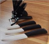 Weißes Blatt-keramisches Küche-Messer-Set