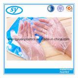 Sicherheit Wegwerf-PET Handschuh-Plastikhandschuhe