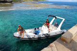 Aqualand 21feet 6.5m Rigid Inflatable Motor BoatかRib Fishing Boat (rib650c)