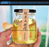 De Container van het Glas van de Honing van de Yoghurt van de pudding met het Deksel van de Schroef van het Blik