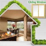 Triplo laminado Vidro corrediço de vidro temperado, janela desliza de alumínio competitivas para casa residêncial