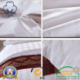 Folhas de base brancas de Cotton/CVC para o hotel/hospital/o Home com listra do cetim
