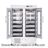 Refrigerador ereto usado médico clínico Bbr1000 do banco de sangue