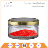 vaso di vetro del caviale 200ml con la protezione del metallo, contenitore del caviale, vasi d'inscatolamento del caviale