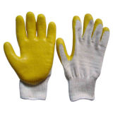 Перчатки полиэфира/хлопка желтого нитрила цвета Coated