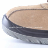 Calçados de couro de Nubuck da proteção do trabalho da segurança com dedo do pé de aço RS7058