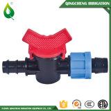 Irrigation barbelée duelle de soupape d'irrigation par égouttement de jardin mini