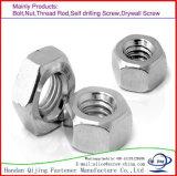 Plein zinc des noix ISO4032 Uni5587 GB52 GB6170 GB6172 de l'hexagone DIN934/936