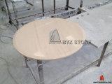 Естественные мраморный верхние части круглого стола для домов, кофейни, гостиницы