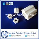 Boucle cannelée par alumine élevée faite au hasard en céramique d'emballage (boucle Al2O3 d'alumine : 99%)