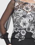 Frauen-elegante Spitzen- schwarze Nixe-Art-langes reizvolles Abend-Kleid