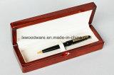 Boîte-cadeau en bois de crayon lecteur de fini de piano de Brown