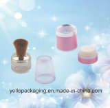Cassa allentata della polvere del pacchetto cosmetico del contenitore delle estetiche del recipiente di plastica