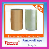 Cinta adhesiva del embalaje del rodillo enorme de BOPP para el lacre y el atascamiento del cartón