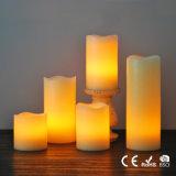 Borde ondulado sin Flama Pilar velas LED de 5-Pack