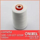 Filato cucirino del cappotto ampiamente usato bianco puro