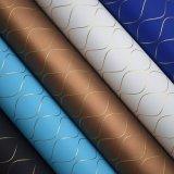 Линия кожа Weave PU, кожа Nonwoven затыловки декоративная