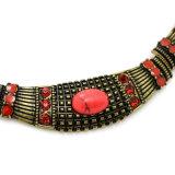 Collier de foulard fait en pierre/bâti synthétiques en Anti-Or/Anti-Argent