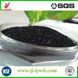 Carbón activado extruido para la descloración y eliminación química