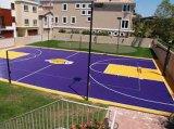 Sport esterni dell'interno dell'interruttore di sicurezza di pallacanestro del pavimento della stuoia di pallavolo del pavimento del polipropilene poco costoso della stuoia che pavimentano stuoia da vendere