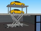 La memoria nel sottosuolo idraulica Scissor l'elevatore di parcheggio dell'automobile con il tetto