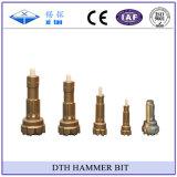 Os bits de alta pressão do martelo de Xitan DTH furam para baixo bits de tecla
