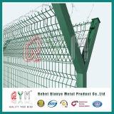 Высокий уровень безопасности изогнутый сварной проволочной сеткой ограждения аэропорта/аэропорта стены безопасности