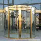 Gestalteter gebogener Glastür-Haupteinstiegstür-Entwurf