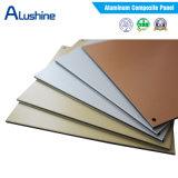 el panel compuesto de aluminio del PE PVDF Acm de 3m m 4m m para el material de construcción