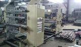 Máquina de impressão flexográfica de quatro cores de filme plástico