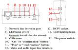 """3.5 """" Monitor van het Meetapparaat van de Camera van kabeltelevisie van de Pols de Draagbare met Poe, het Analoge Meetapparaat van de Camera, het Meetapparaat van de Veiligheid"""