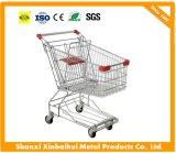 Handcart покупкы тележки руки в супермаркете