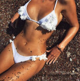 2017 Blume gestickter Dame-reizvoller Bikini
