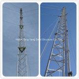 Tour de télécommunication par radio triangulaire de Guyed de transmission en acier d'antenne