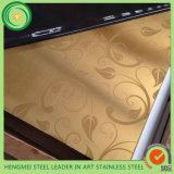 Metallo di verniciatura di colore del raso della linea sottile colorato oro dello strato dell'acciaio inossidabile 304 per il comitato della decorazione