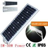 50W luz de LED de energia solar para a rua e uso na estrada