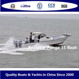 大きいパンガ刀35のボートの漁船