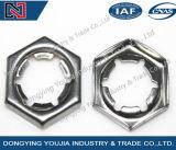 Noix auto-bloqueuses de l'acier inoxydable DIN7967 contre-