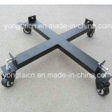 5 chariot en acier portatif de bidon à pétrole du gallon 4-Wheeled