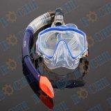 Snorkel-Set-Geräten-Badebekleidungs-Berufssport-Abnützung-volles Gesichts-Tauchens-Schablone