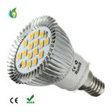 E14 E27 MR16 B22 GU10 6W Projecteur à LED 16PCS 5730SMD avec éclairage à LED