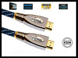 HDMI에 All HDMI Devices (KS를 위한 24k Gold Plated Connectors 1.4version 1080p를 가진 HDMI Cable Metal Shell--1104년)