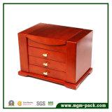 Коробка ювелирных изделий роскошного изготовленный на заказ толщиного высокого качества деревянная