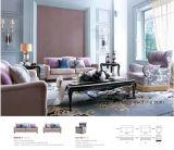 В гостиной диван в ткани мебель