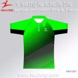 Sportuitrusting van de Prijs van China van Healong de Goedkope de Overhemden van het Polo van Om het even welke van de Grootte van de Sublimatie Mensen van de Reclame